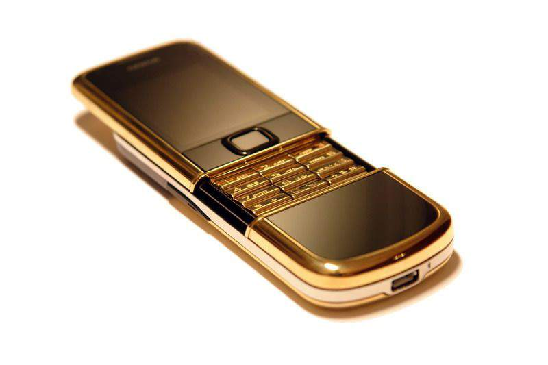 MJ - Nokia 8800 Gold Arte Limited Edition - Solid Gold. Gold Keyboard.