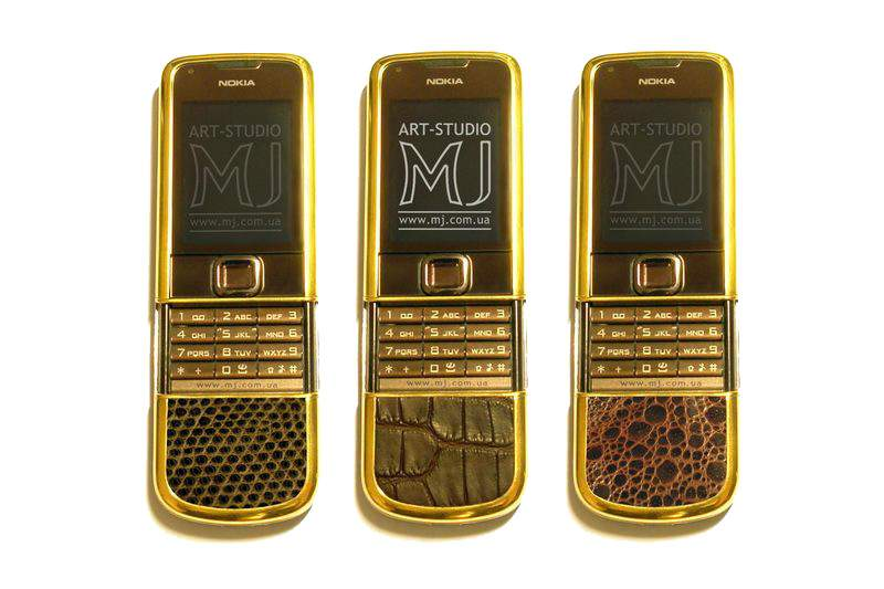 MJ - Nokia 8800 Arte Gold Sapphire Leather Edition - Skin Exotic Animals