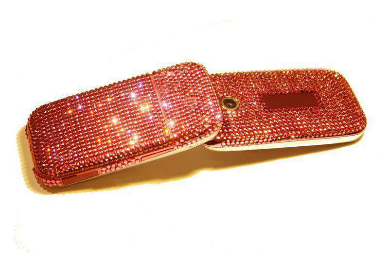 MJ - Swarovski Mobile Phone, Luxuriously, In Style, Smartly, With Chic, Chicly... Ladies Design Modification.