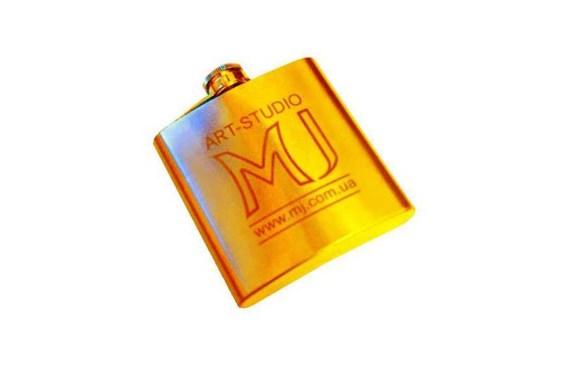 MJ - Luxury Gold Flask. Case from Solid Gold 777. Limited Edition 100 Copy.